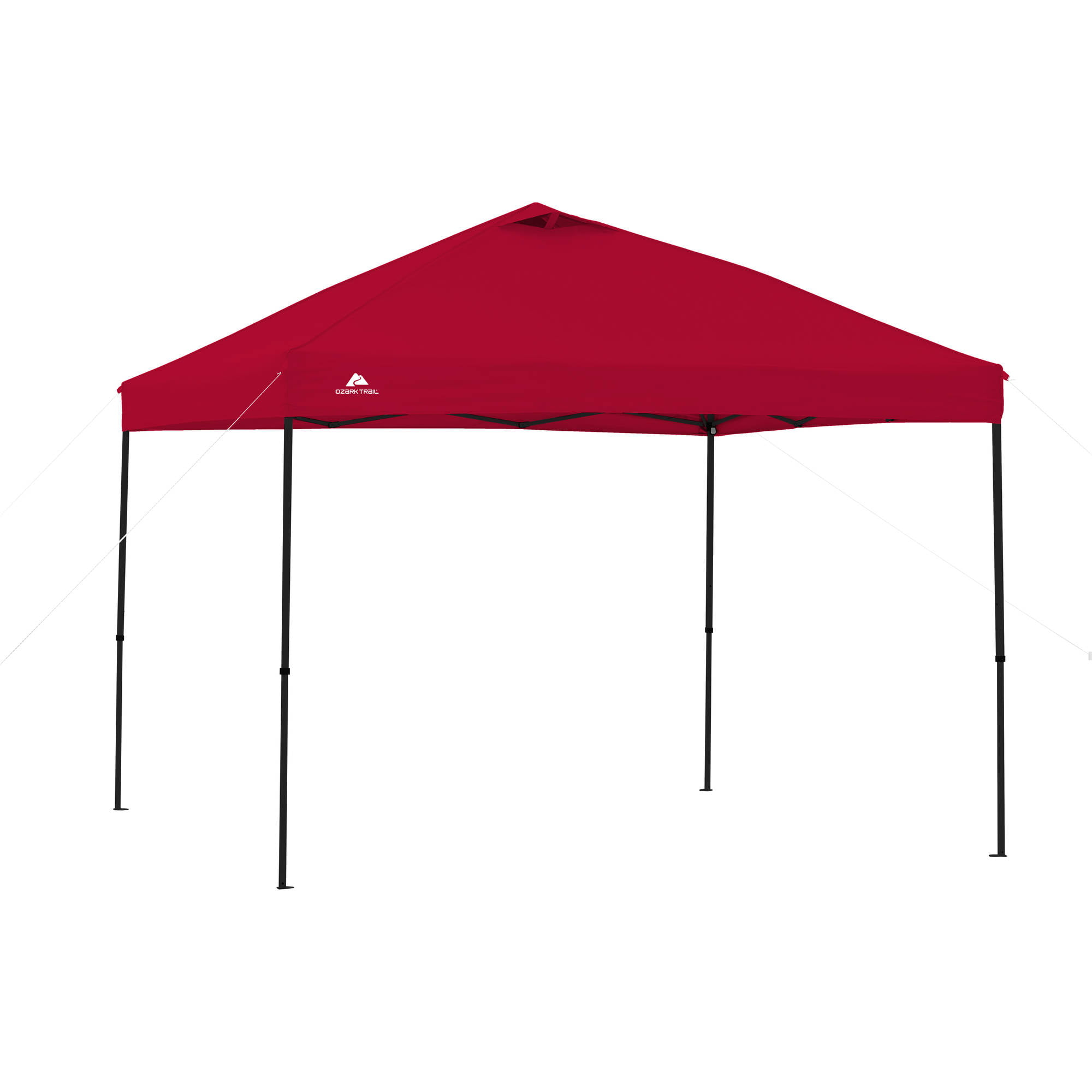 Ozark Trail 10\' x 10\' Instant Gazebo Red Heavy-duty Polyester Canopy ...