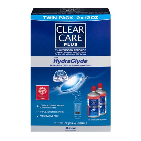 Clear Care Plus With Hydraglyde Cleaning   Disinfecting Solution Twin Pack   2 Pk  12 0 Fl Oz