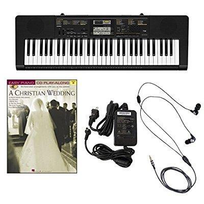 Casio CTK2400 61-Key Keyboard Deluxe Package with Casio Keyboard Adapter, Ear Buds & A... by Casio