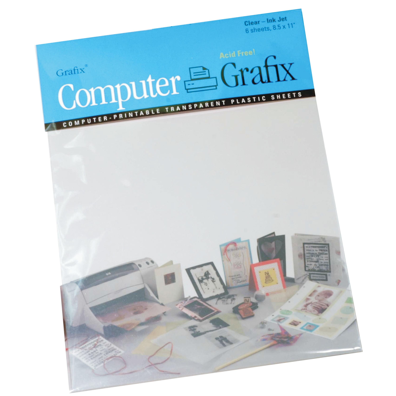 graphic regarding Printable Shrink Film titled Grafix Inkjet Motion picture, 8.5\