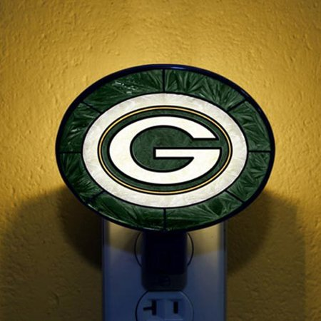 Green Bay Packers Hand-Painted Glass Nightlight - No Size](Lime Green Drinking Glasses)