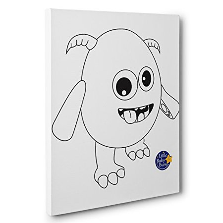 Little Baby Monster Kids Room Coloring Canvas Decor