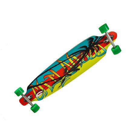 42 Inch Drop Through Complete Longboard Speed Skateboard