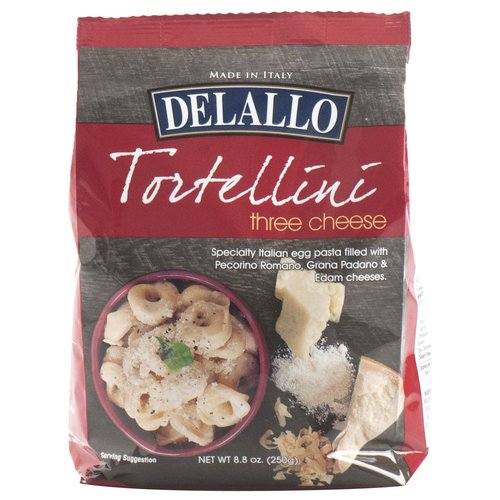 DeLallo Three Cheese Tortellini Frozen Pasta, 8.8 oz