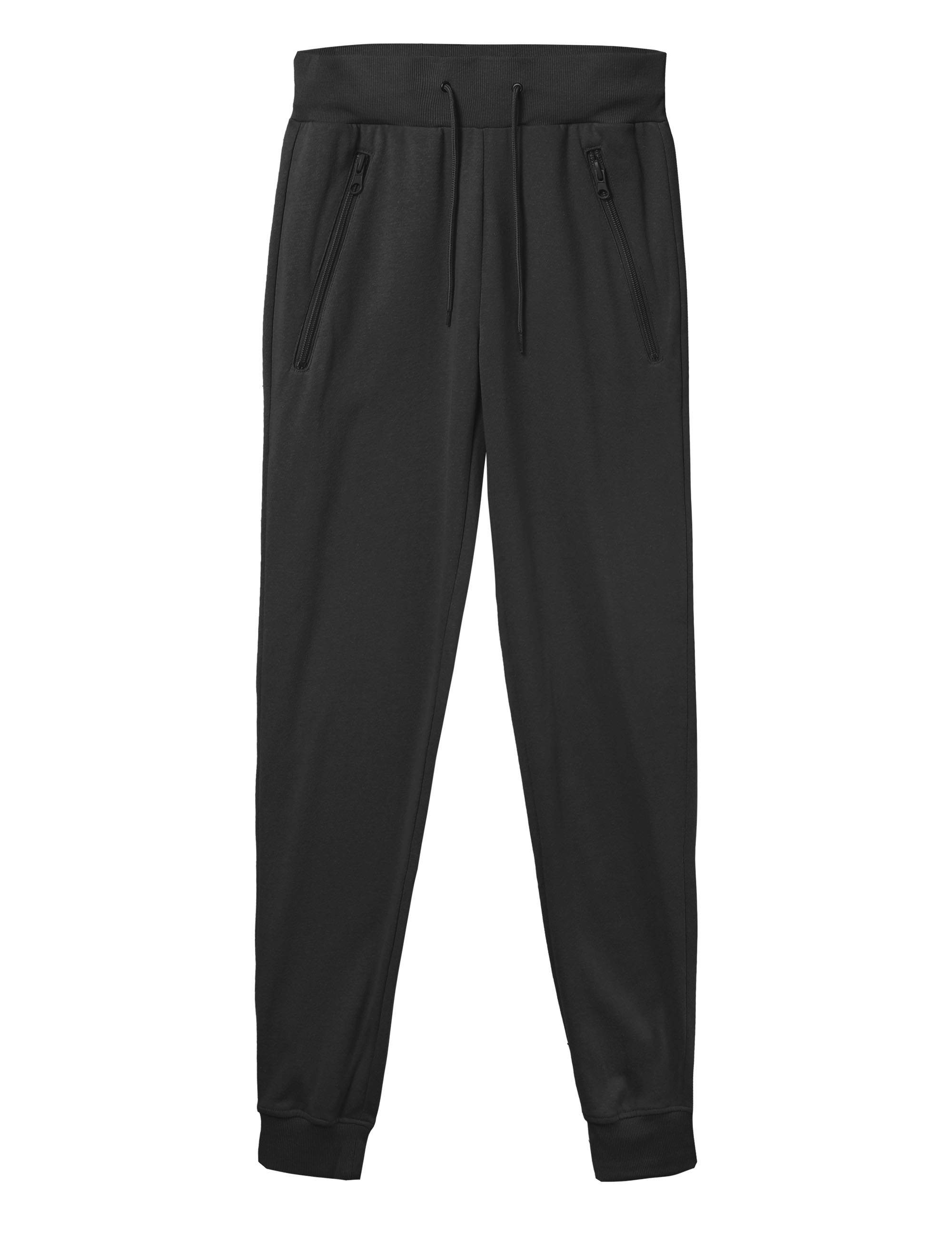 Mens Joggers Lighweight French Terry Pants with Zipper Pocket Jogger