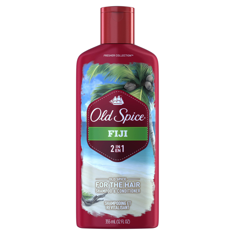 Old Spice Fiji 2-in-1 Shampoo and Conditioner, 12 Fl Oz