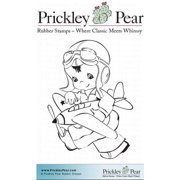 "Prickley Pear Cling Stamps 1.75""X1.25""-Boy With Plane"
