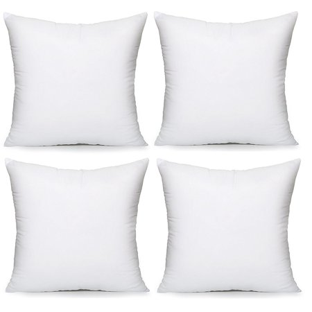 Acanva Soft Hypoallergenic Decorative Throw Pillow Insert 22 X 22