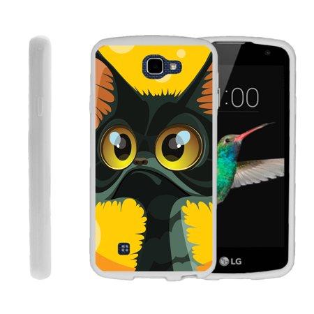 LG K4, LG Rebel LTE, LG Spree, LG Optimus Zone 3, Flexible Case [FLEX FORCE] Slim Durable TPU Sleek Bumper with Unique Designs - Big Eyed