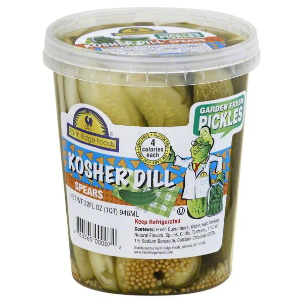 Farm Ridge Foods Kosher Dill Pickle Spears, 32 Oz.