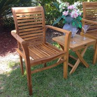 Chic Teak Rio Teak Stacking Patio Dining Chair