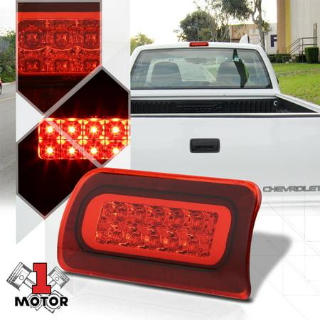 Chrome Housing Red Lens Led Third 3rd Brake Light For 94 03 Chevy S10 Gmc Sonoma 95 96 97 98 99 00 01 02