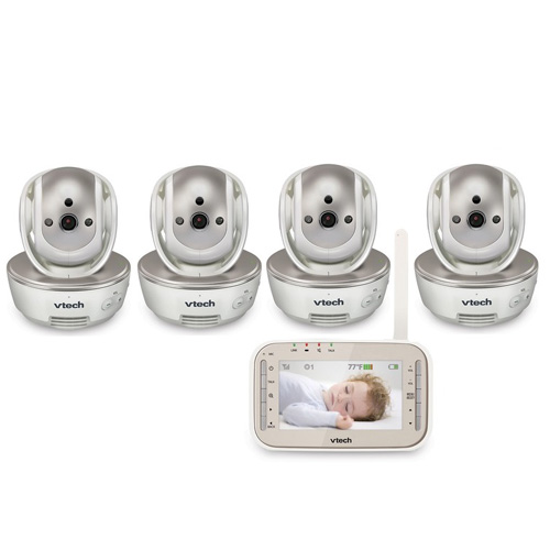 Vtech VM343-4 Safe and Sound Video Baby Monitor with 4 Ca...