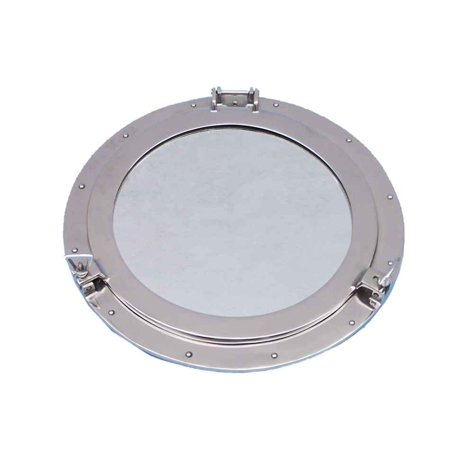 Deluxe Cl Chrome Porthole Mirror 24 Nautical Home Decor