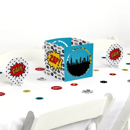 BAM! Superhero - Party Centerpiece & Table Decoration - Superhero Centerpieces