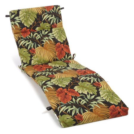 Blazing Needles 72 x 24 in. 3-Sectioned All Weather Outdoor Chaise Lounge Cushion ()