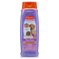 (2 pack) Hartz groomers best tearless extra gentle puppy shampoo, 18-oz bottle