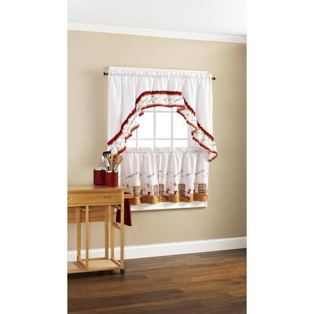 Mainstays Dancing Chefs Tier and Swag Valance Set - Patrick Swag