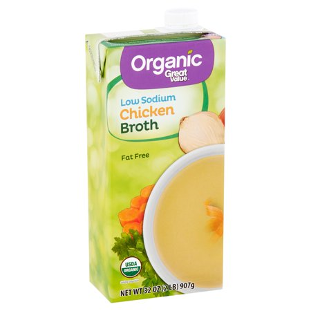 (3 Pack) Great Value Organic Low Sodium Chicken Broth, 32 (Best Organic Chicken Brands)