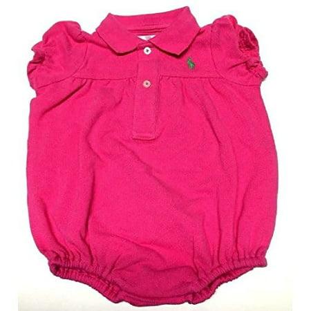 Ralph Lauren Infant Girl's Mesh Bubble Shortall 3 Months