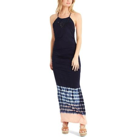 Jessica Simpson Womens Juniors Teslie Tie-Dye Halter Tank Dress