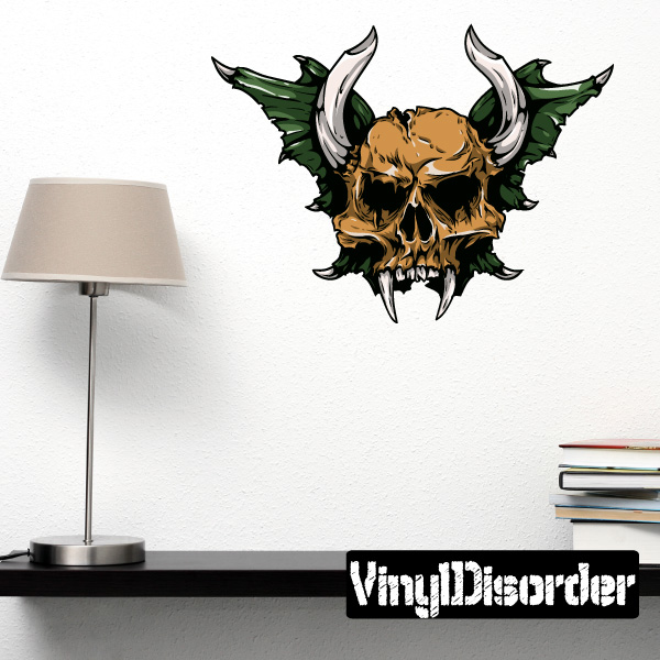 Skull Wall Decal - Vinyl Car Sticker - Uscolor022 - 25 Inches