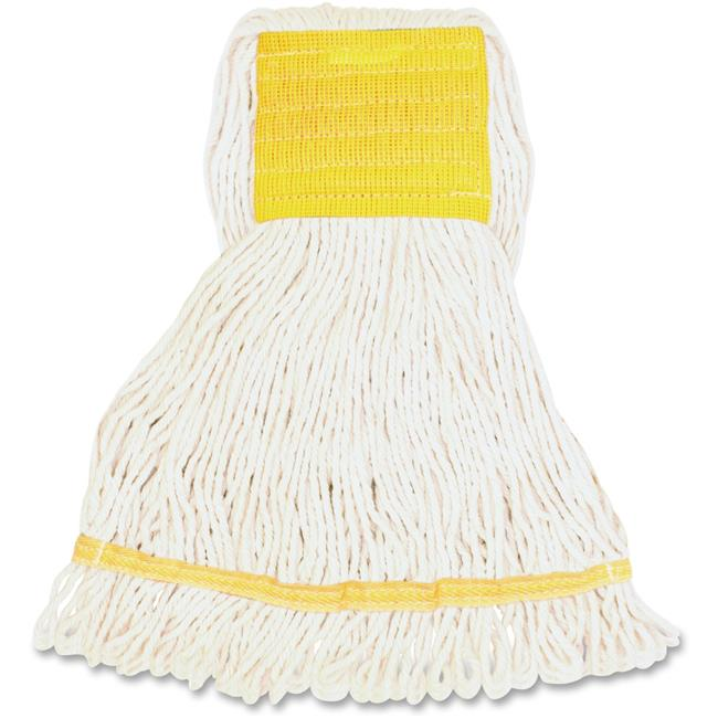 Genuine Joe GJOSWH5BCT Small Blend Wide Band Loop Mop - White