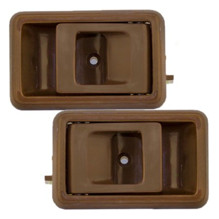Pair Set Inside Inner Brown Door Handles Replacement for Geo Prizm Toyota 4Runner Camry Corolla Tacoma Pickup Truck 6926012120 6920504010B1 (Geo Prizm Valve Stem)