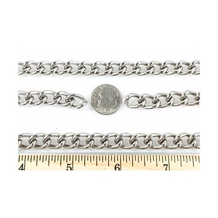 Curb Chain Welded 2.5mm 10 Foot Length Nickel Finish (Welded Foot Ring)