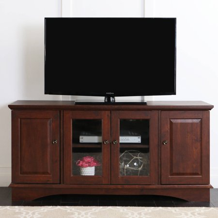 52″ Brown Wood TV Stand Media Console for TV's up to 55″