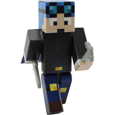 Blue Hair Miner Boy Action Figure Toy, 4 Inch Custom Series Figurines by EnderToys - Buy Custom