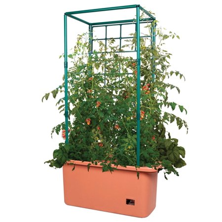 Hydrofarm GCTR 10 Gal Tomato Trellis Self Watering Garden Grow System on Wheels