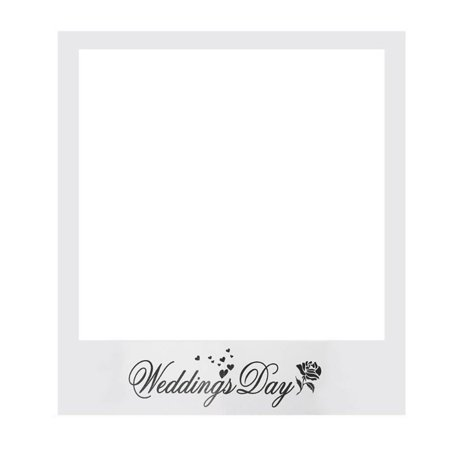 Wedding Day Photo Paper Frame DIY Photo Props Booth Wedding Favors Anniversary Decoration Party Supplies - Wedding Photo Booth