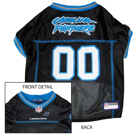 Pets First Carolina Panthers NFL Dog Jersey - Small