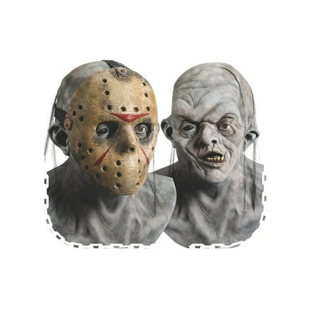 Deluxe Latex Jason Mask with Removable Face Mask - Friday the - Deluxe Jason Voorhees Mask