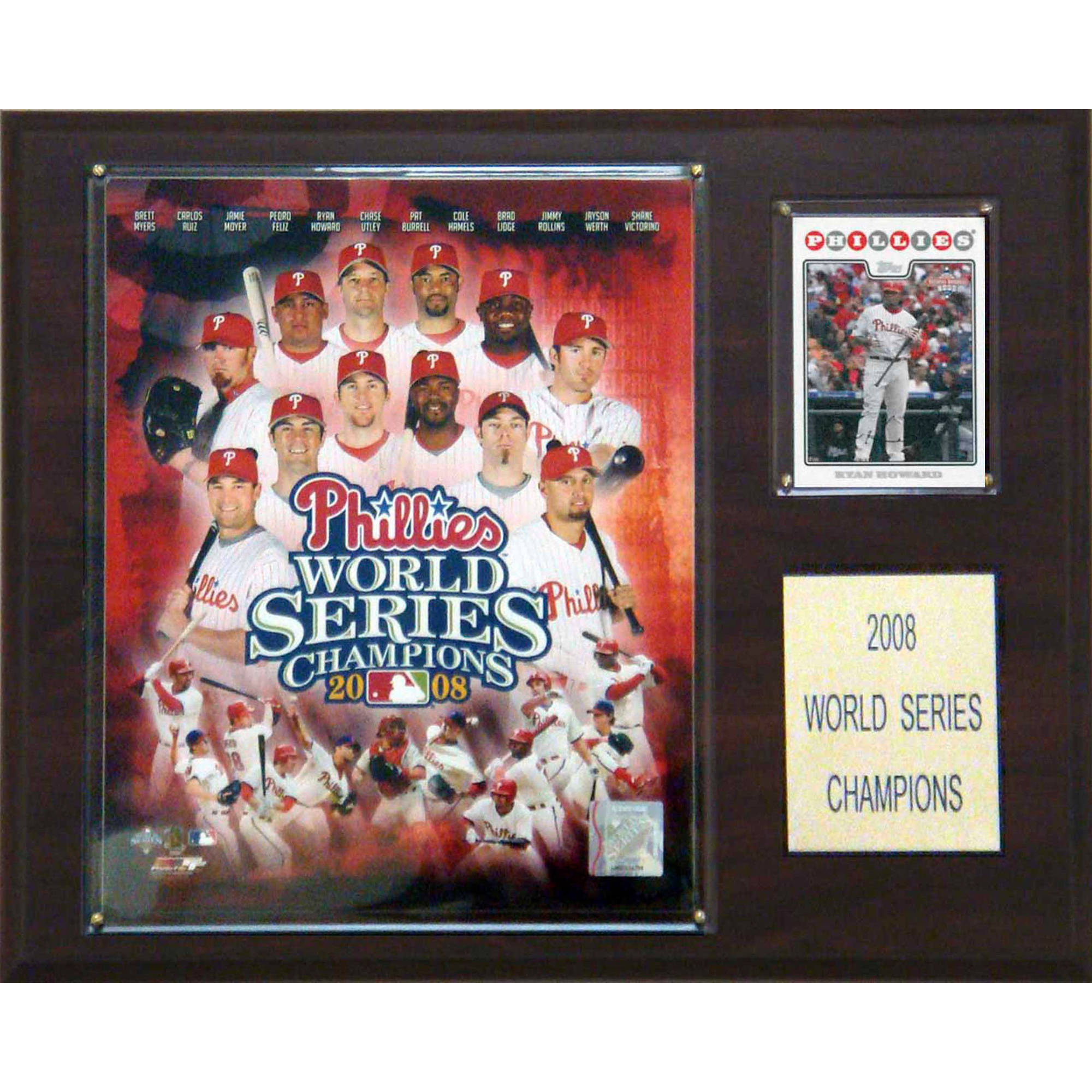 C&I Collectables MLB 12x15 Philadelphia Phillies 2008 World Series Champions Plaque