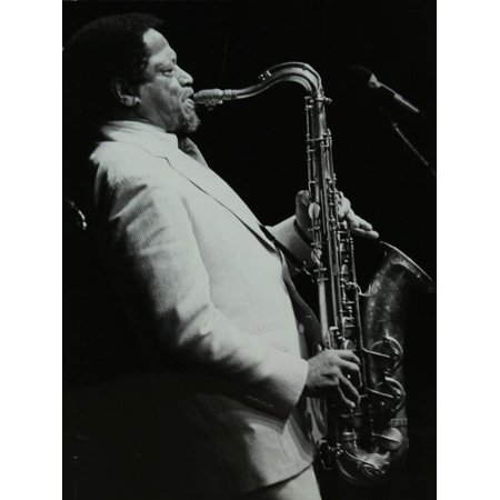 American Saxophonist Illinois Jacquet Playing at the Capital Radio Jazz Festival, Knebworth Print Wall Art By Denis Williams - Halloween Festivals 2017 Illinois