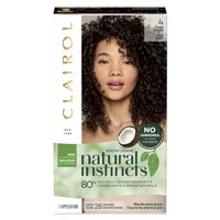Clairol Natural Instincts Semi-Permanent Hair Color, 4 Dark Brown