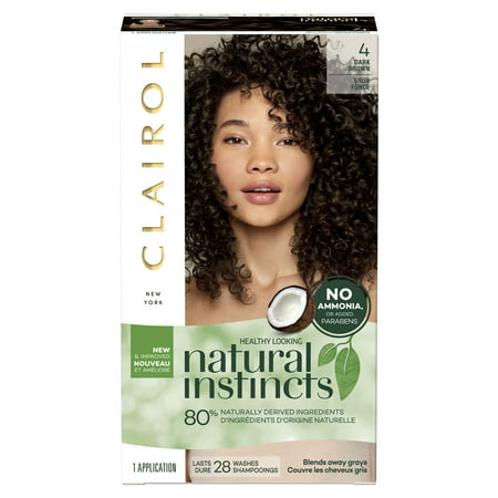 Clairol Natural Instincts Hair Color, 4 Dark (Temporary Red Hair Dye For Dark Hair)