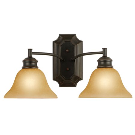 Design House 504407 Bristol 2-Light Wall Light, Oil Rubbed (Bristol Place One Light)