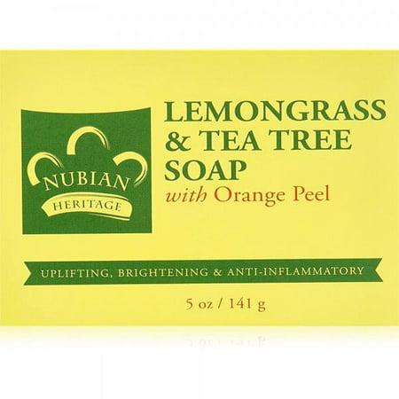 Nubian Heritage Soap Bar, Lemongrass and Tea Tree, 5