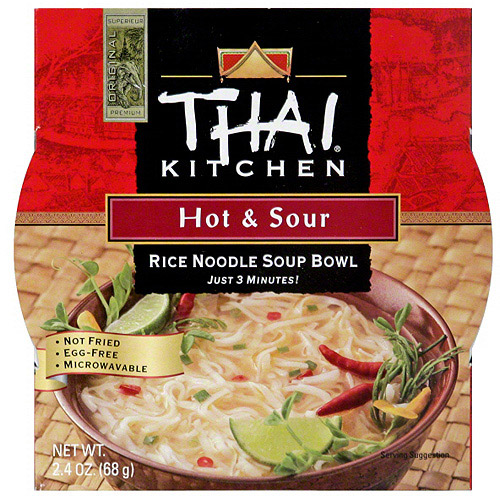 Thai Kitchen Hot & Sour Rice Noodle Soup Bowl, 2.4 oz (Pack of 6)