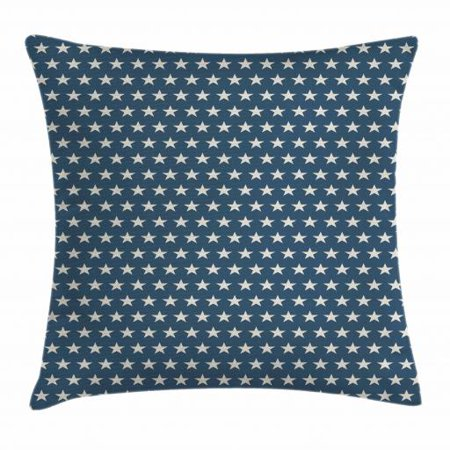 Star Throw Pillow Cushion Cover, Patriotic Star of the American Flag Festive Independence Themed Symbols of Freedom, Decorative Square Accent Pillow Case, 16 X 16 Inches, Navy Blue Tan, by Ambesonne](Patriotic Pillows)