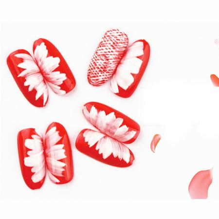8Pcs/Set Flower Gradient Wood Painting Brush Drawing UV Gel Nail Art Pen Tools - image 9 of 11