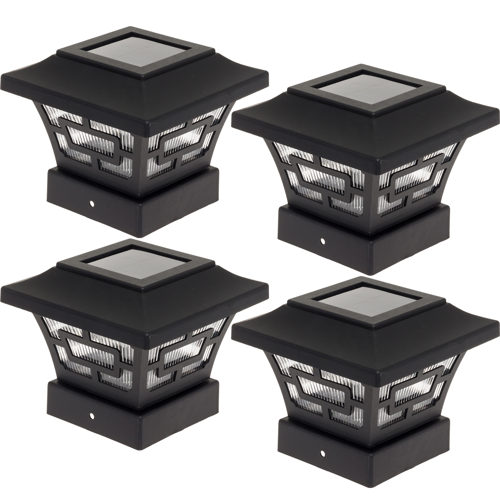 WESTINGHOUSE Black Hilltop 20 Lumens Solar Fence Post Cap Lights DD0301