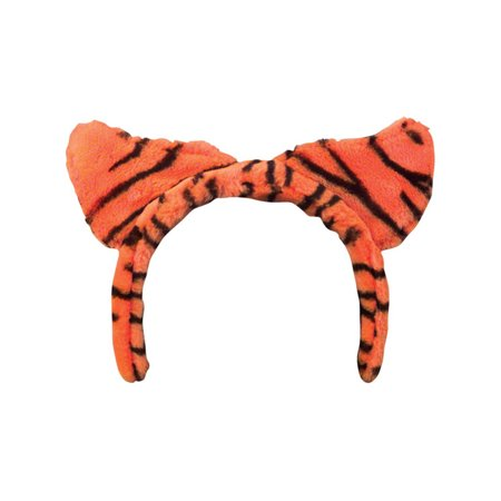 Girls Kids Tiger Stripe Orange And Black Cat Ear Headband Costume Accessory (Cat Tiger Costume)