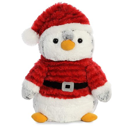 Penguins Stuffed Animals (Pom Pom Penguin Santa 11.5 inch - Stuffed Animal by Aurora Plush)