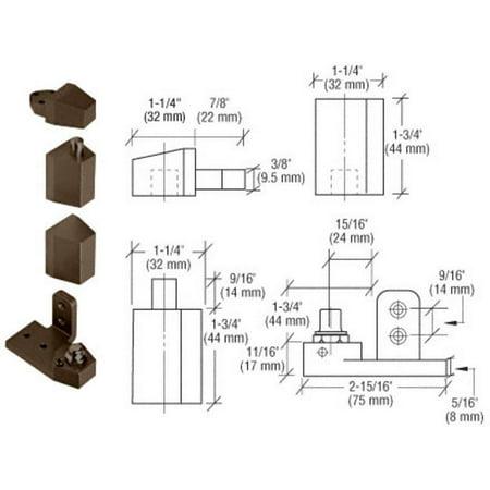 CRL Dark Bronze Offset Left Hand Pivot Set Flush with Frame Face 0P30LHDU