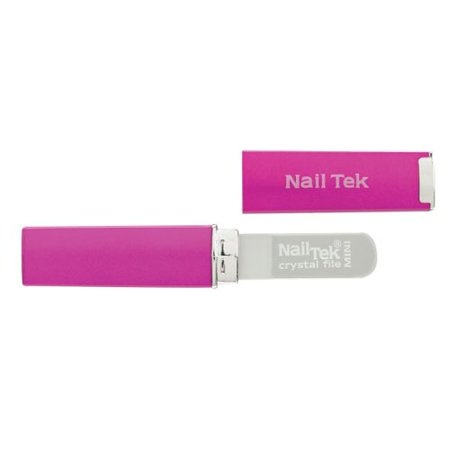 Nail Tek Mini Crystal File with Pink Case (Crystal Nail File Case)