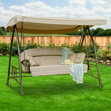 Garden Winds Replacement Canopy Top for Sears 3-Person Deluxe (Patio Swing Canopy)